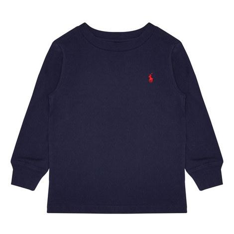 Long Sleeve Logo T-Shirt Toddler, ${color}
