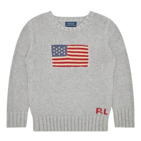 Flag Detail Sweater Kids, ${color}