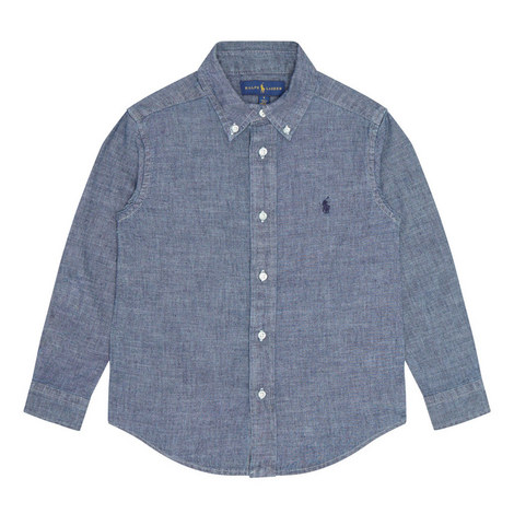 Buttoned Chambray Shirt, ${color}