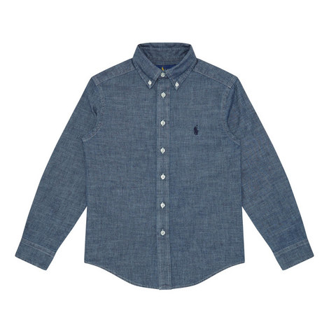 Buttoned Chambray Shirt Kids, ${color}