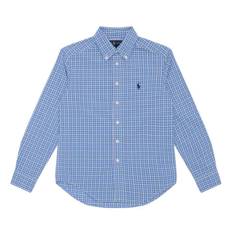 Long-Sleeved Check Shirt Kids, ${color}