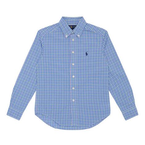 Long-Sleeved Check Shirt Kids, ${color}