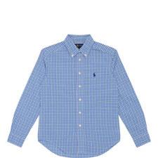 Long-Sleeved Check Shirt Kids