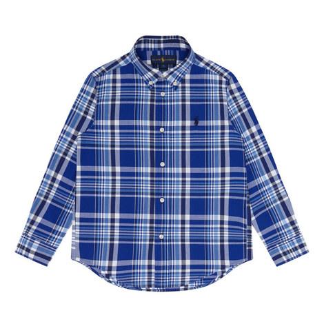 Check Print Shirt Kids, ${color}