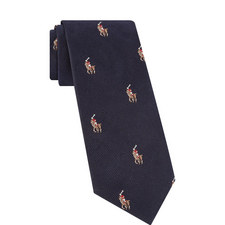 Logo Embroidered Tie