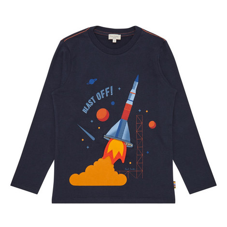 Rocket Print T-Shirt Kids, ${color}