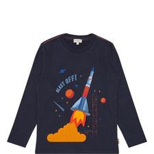 Rocket Print T-Shirt Kids