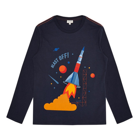 Rocket Print T-Shirt Teens, ${color}