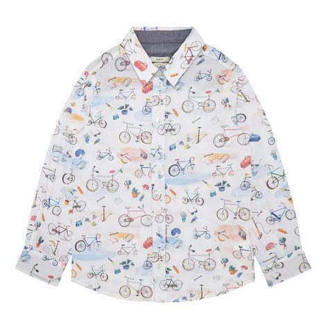 Bicycle Print Shirt Kids, ${color}