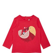 Long-Sleeved Bird Top Baby
