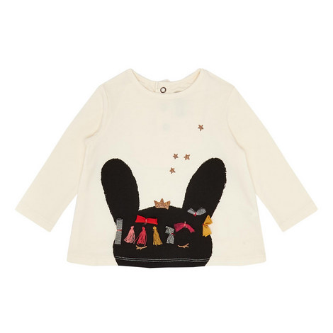 Bunny Long-Sleeved Top Baby, ${color}