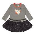 Heart Stripe Dress Baby, ${color}