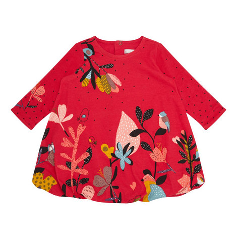 Bird Print Dress Baby, ${color}