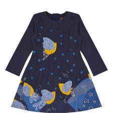 Bird Print A-Line Dress Kids