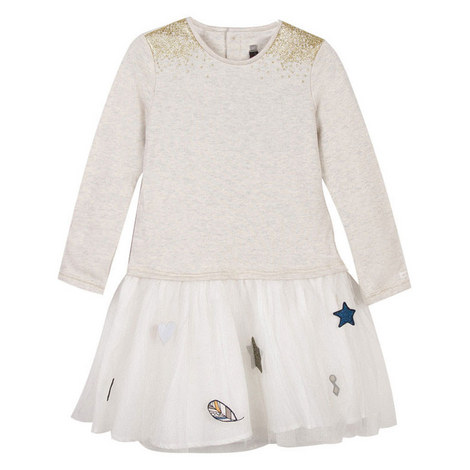 Fleece and Tulle Star Dress Teens, ${color}