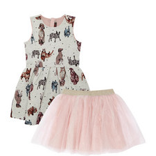 Dog Print Dress Kids