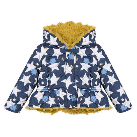 Star Quilted Coat Baby, ${color}