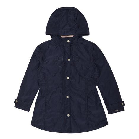Scallop Trim Hooded Coat Kids, ${color}