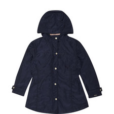 Scallop Trim Hooded Coat Kids