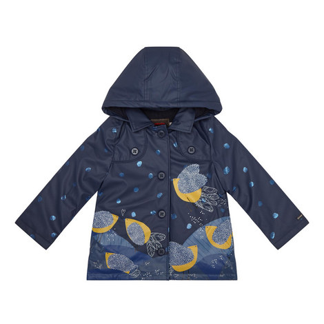 Bird Print Raincoat - 4-10 Years, ${color}
