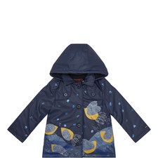 Bird Print Raincoat - 4-10 Years