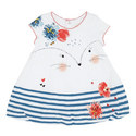 Printed Stripe Detail Dress Baby, ${color}