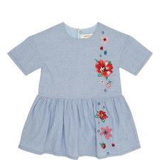 Chambray Floral Dress