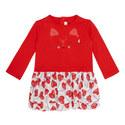 Heart Print Cat Dress Toddler, ${color}