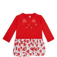 Heart Print Cat Dress Toddler