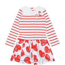 Stripe Top & Heart Skirt Dress