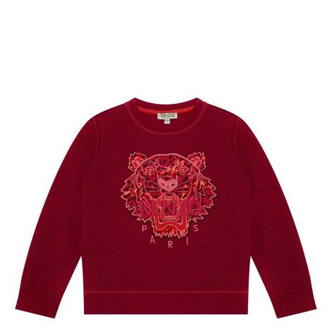 Tiger Appliqué Sweatshirt Kids, ${color}