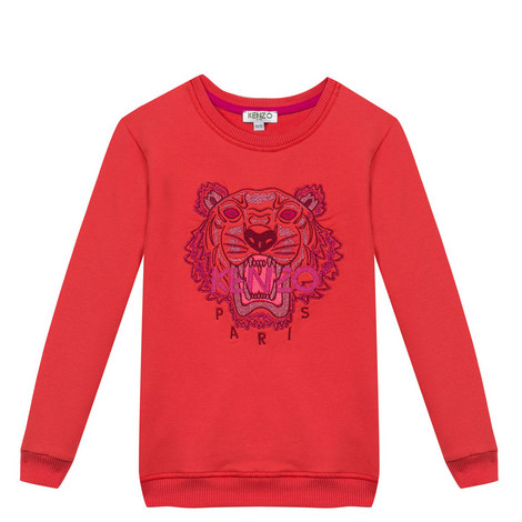 Embroidered Tiger Sweatshirt Kids, ${color}