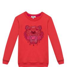 Embroidered Tiger Sweatshirt Kids