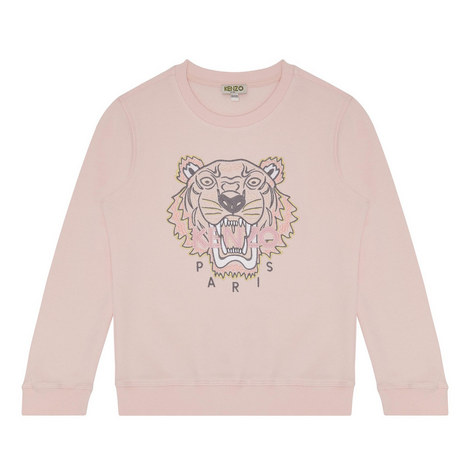 Tiger Appliqué Sweatshirt Kids, ${color}