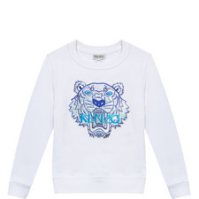 Embroidered Tiger Sweatshirt Teens