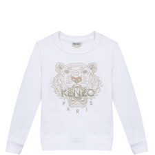 Tiger Appliqué Sweatshirt Kids