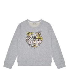 Tiger Appliqué Sweatshirt Kids