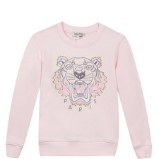 Embroidered Tiger Sweatshirt Teens