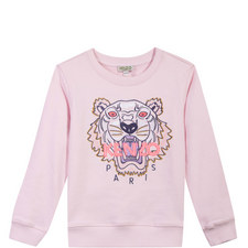 Embroidered Tiger Sweatshirt Kids