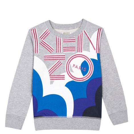 Bold Logo Sweatshirt Teens, ${color}