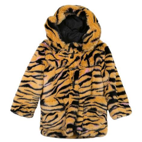 Tiger Stripe Faux-Fur Coat, ${color}