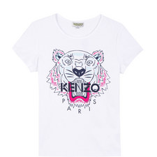 Embroidered Roaring Tiger T-Shirt