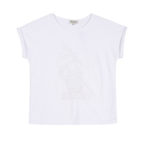 Embroidered Ice-Cream T-Shirt Kids, ${color}