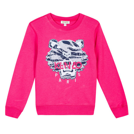 Roaring Tiger Embroidered Sweatshirt Kids, ${color}