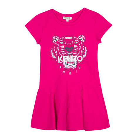 Tiger Head Drop Waist Dress Teens, ${color}