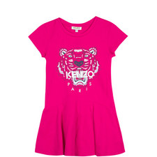 Tiger Head Drop Waist Dress Teens