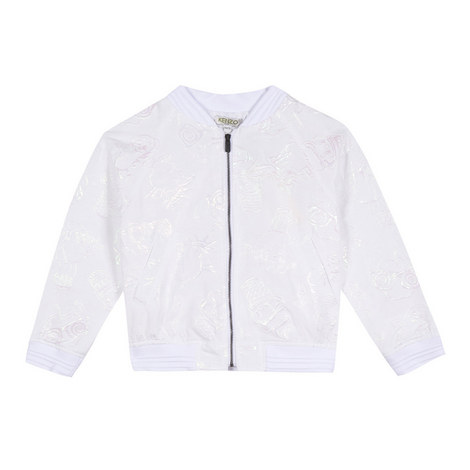 Embroidered Ice-Cream Bomber Jacket Teens, ${color}
