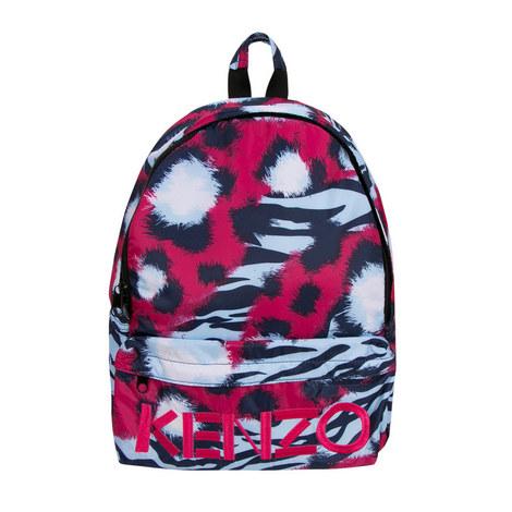 Tiger Print Backpack, ${color}