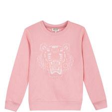 Embroidered Tiger Sweatshirt