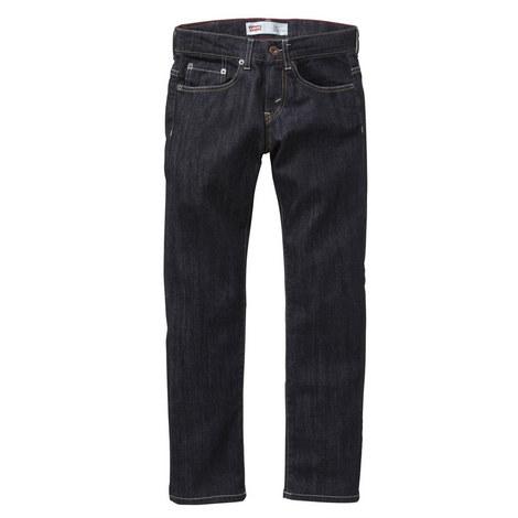 Dark Wash Slim Fit Jeans Teens, ${color}